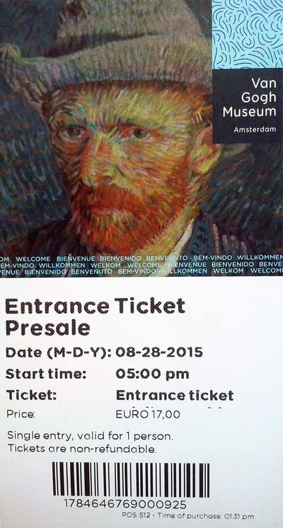 Amsterdam ticket Van Gogh Museum