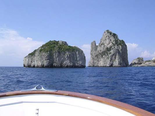 Capri faraglioni fotografie mare