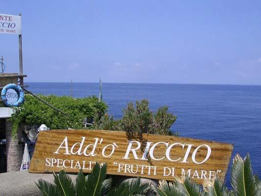 Ristorante Add'O Riccio Capri specialità pesce e frutti di mare
