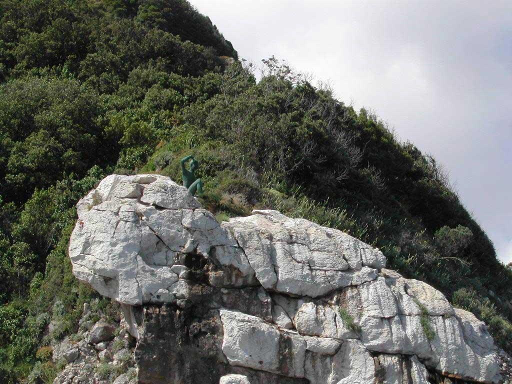 Fotografia mare capri faraglioni con la sirenetta