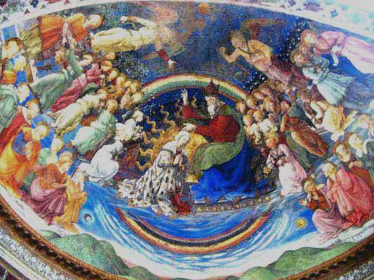 Affreschi di Filippo Lippi nel duomo di Spoleto Arte in Umbria - Documenti fotografie / foto dipinti - incoronazione della Vergine
