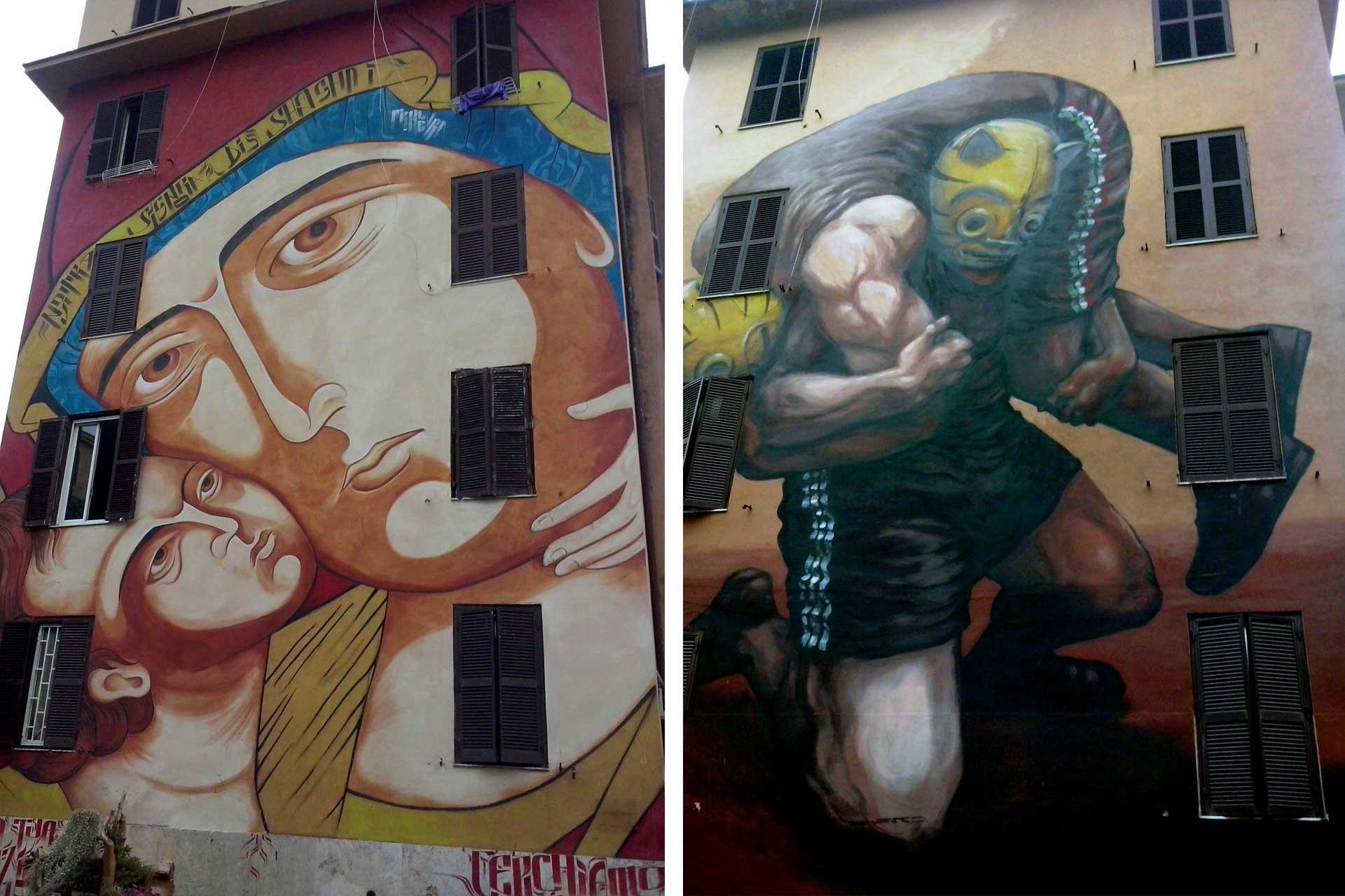 Street Art Tor Marancia Roma arte murales Diamond Moneyless Baudelocque Assolo Romeo Jerico Gaia Jaz