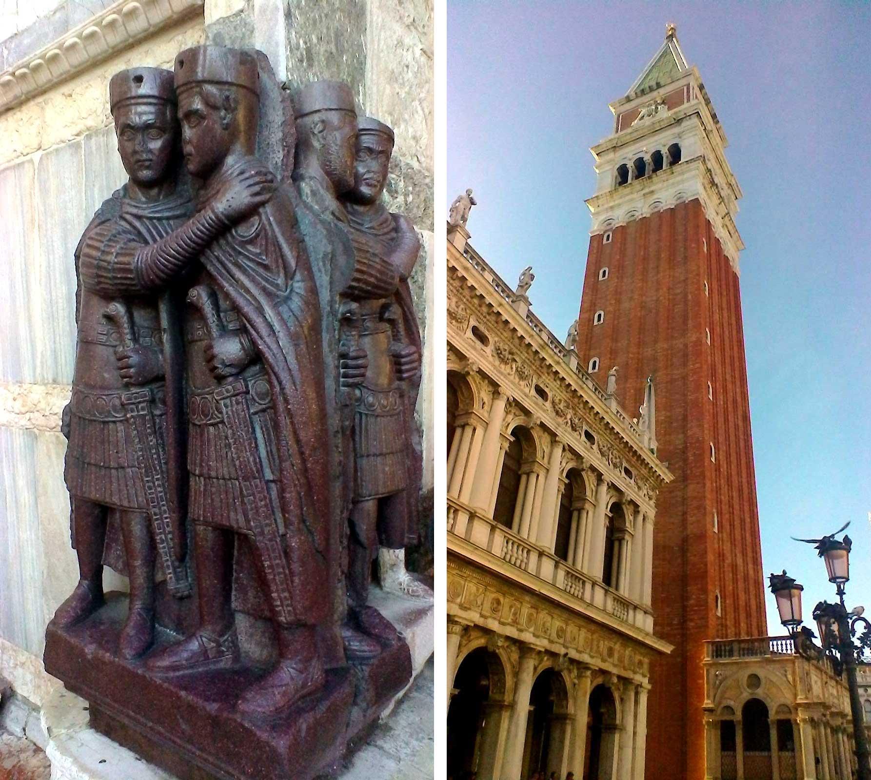 Venezia fotografie immagini del palazzo Ducale con monumento ai tetrarchi